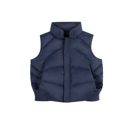 Kid Warm Wind-resistant Hooded Down Vest - Booth79