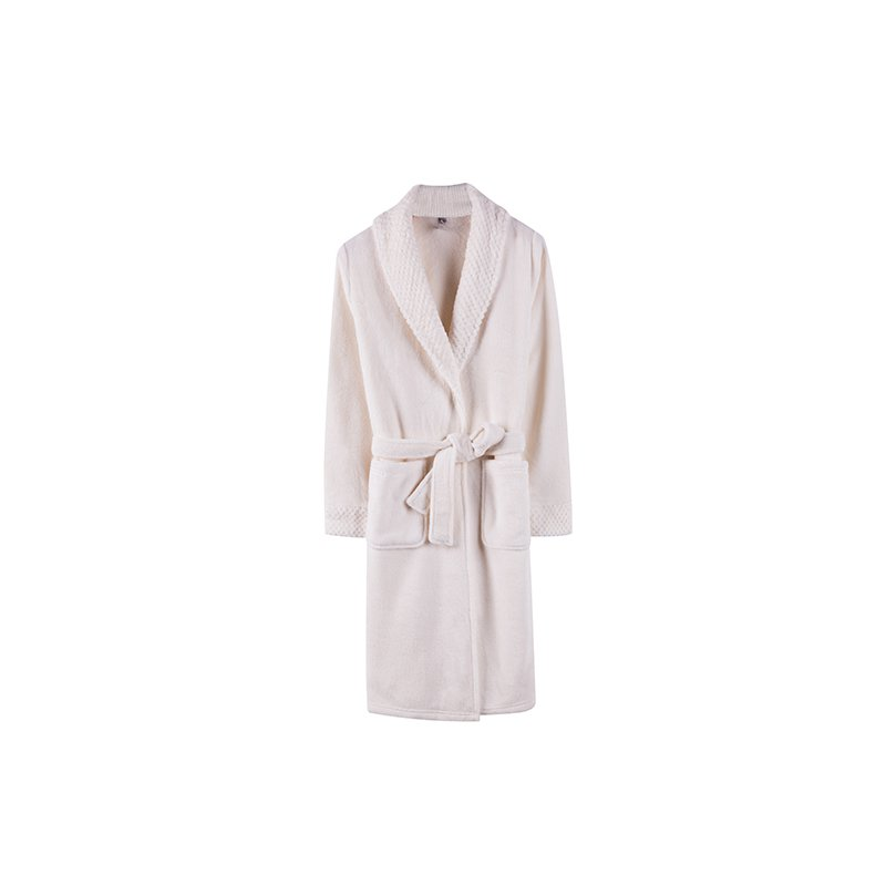 Do Do Women's Light Brown /Pink Terry Robe with Strap - Booth79