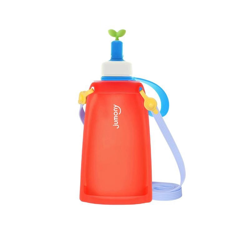 Kids Portable Foldable Silicone 300 ML Water Bottle - Booth79