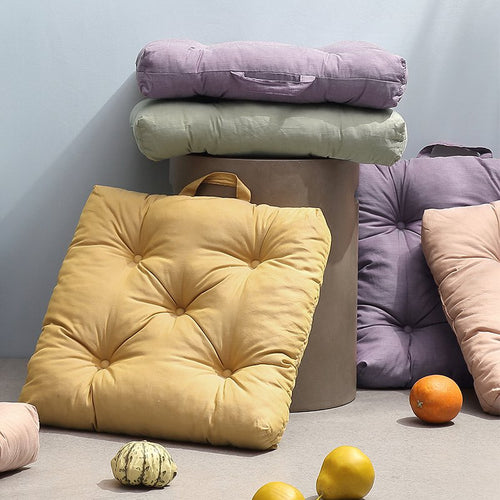 100% Cotton Cover Polyester Filled Extra Thick Chair Cushion - Booth79