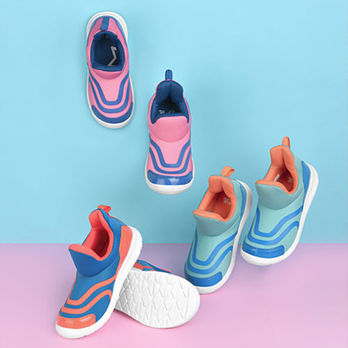 Kids Comfort Sole Contrast Sports Shoes - Booth79