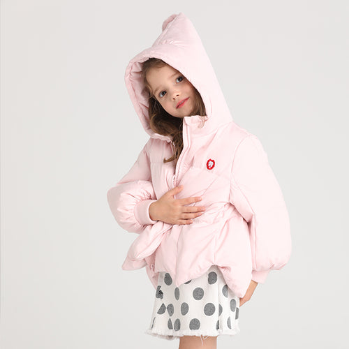 Girls Cute Petal Hooded Down Jacket - Booth79