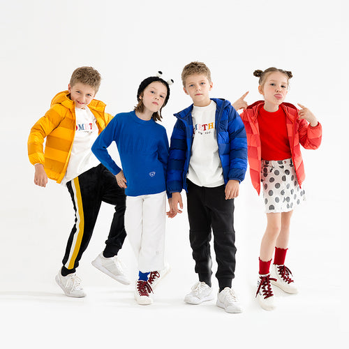Kids Contrast Color Down Jacket - Booth79