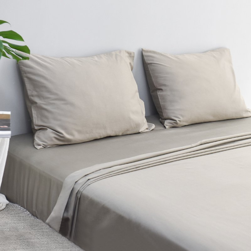 100% Stone Washed Cotton Pure Color Pillowcase Set 2-Pack - Booth79