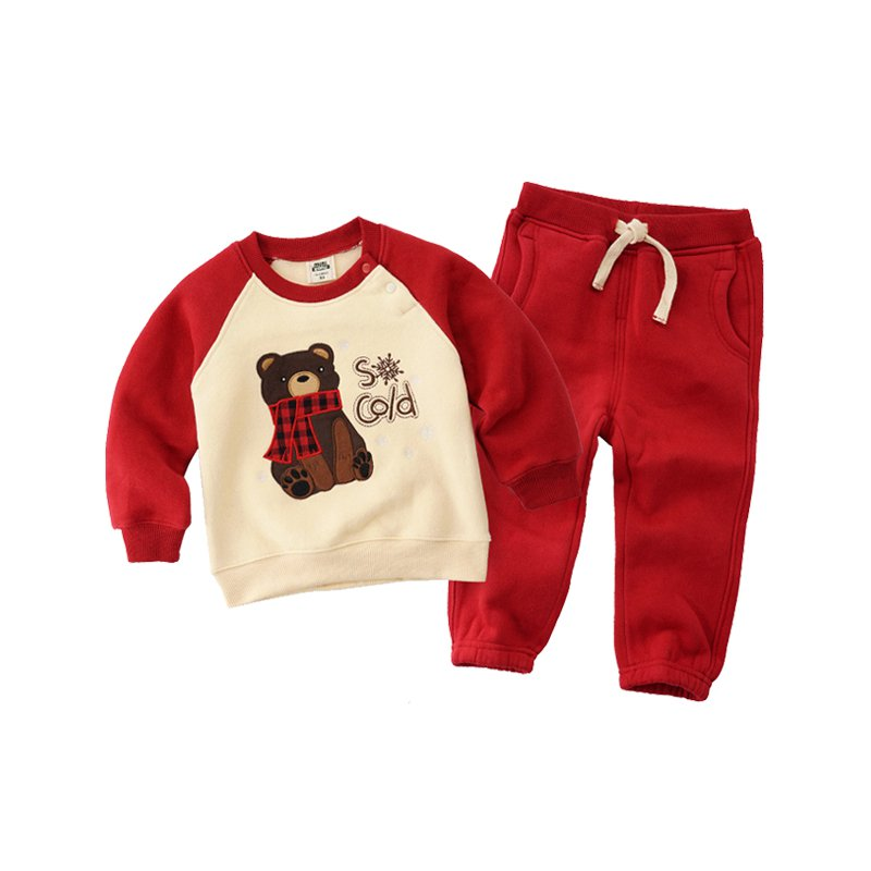 Kids Casual Sherpa-Lined Outfits Set, Age 1-6 - Booth79