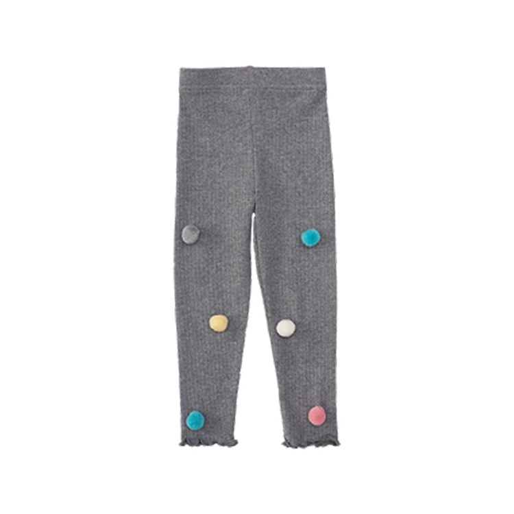 Girls Colored Pom-Pom Knit Leggings - Booth79