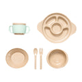 Rice Husk Original Ecological Children's Tableware Set (six Pecs) - Booth79