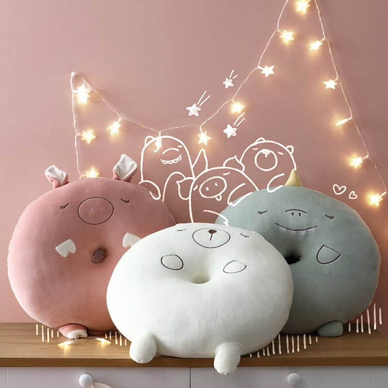 Cute Animal Extra Soft Seat Cushion Fluffy Adorable Pillow - Booth79