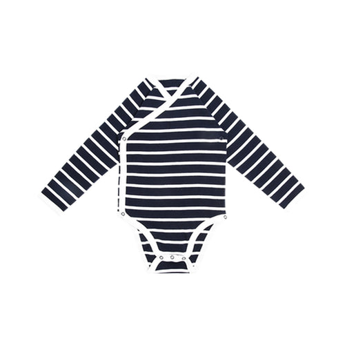 Unisex Baby Stripe Long Sleeve Striped Onesie - Booth79
