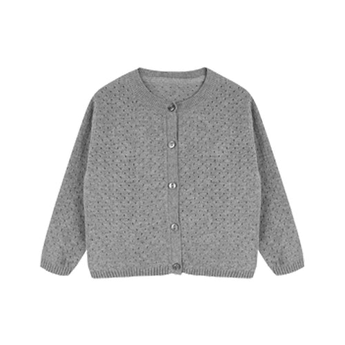 Single Breasted Jacquard Cotton Cardigan for Girls - Booth79