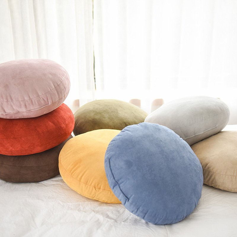 Extra Soft Round Decorative Pillow Thickened Comfort Cushion - Booth79
