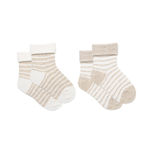 Unisex Toddler Striped Triple Roll Socks 2-Pack - Booth79