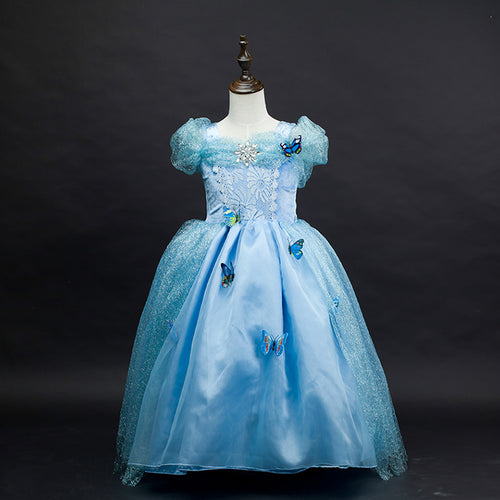 Girls Disney Cinderella Princess Elsa Party Costume Dress - Booth79
