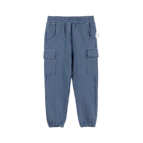 Pocket Striped Children's Knit Pants - Booth79