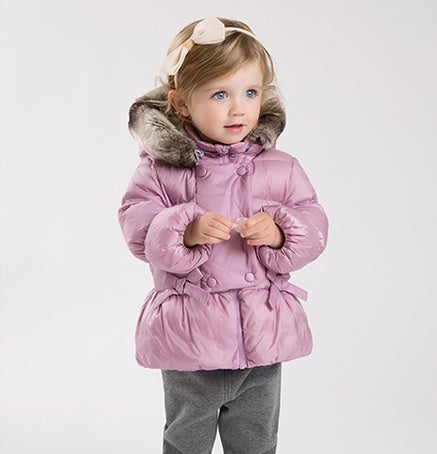 Dave&Bella Girls Lavender Hooded Down Jacket - Booth79