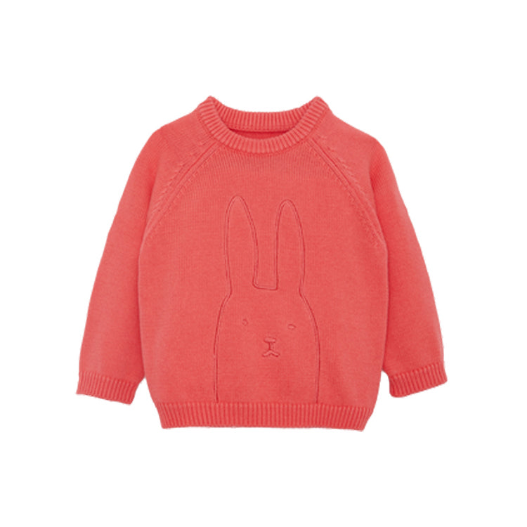 Unisex Toddler and Kids Rabbit Embroidered Sweater - Booth79