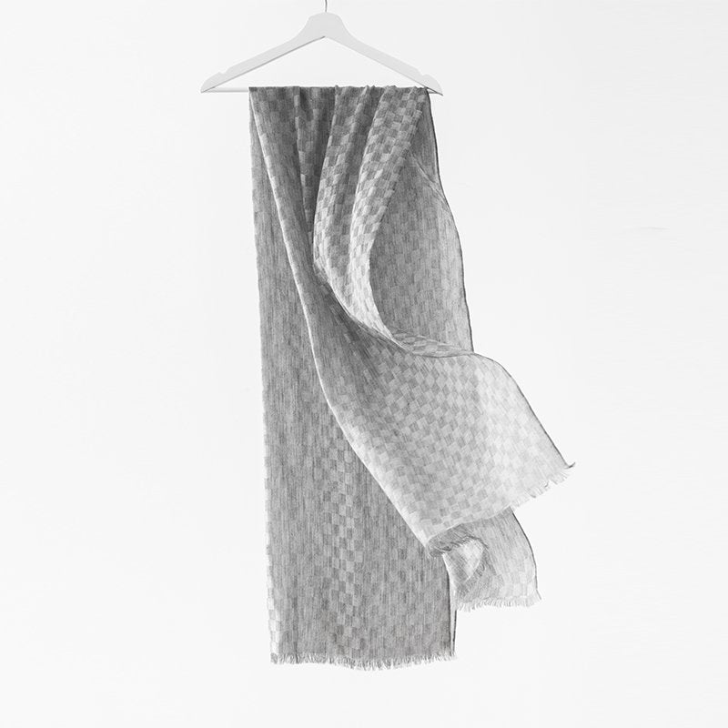 Yakwool and Cashmere Soft Stripes Scarf