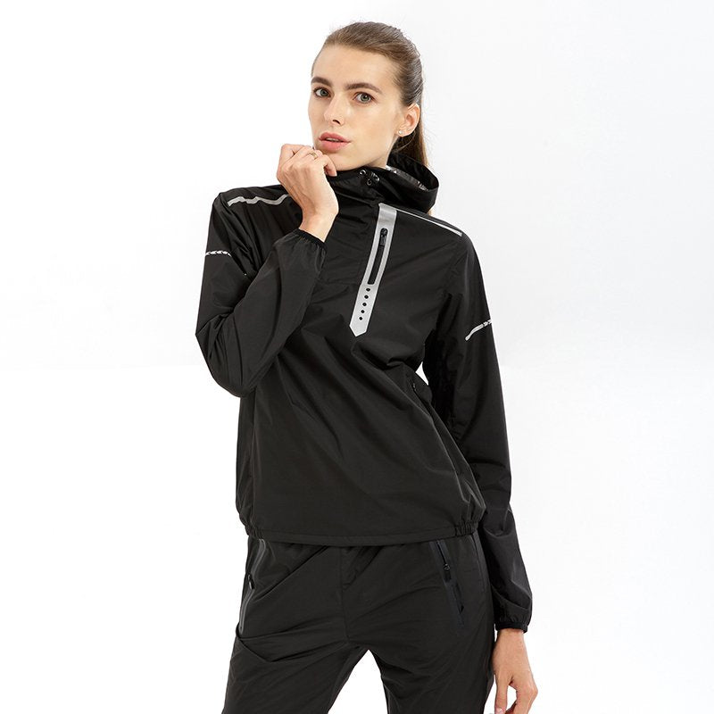 Women's Reclined Zippers Sweat Suit (Three Times Fat Burn)