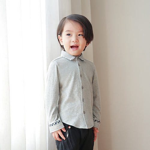Baby and Toddler Boys Contrast Cotton Soft Shirt - Booth79