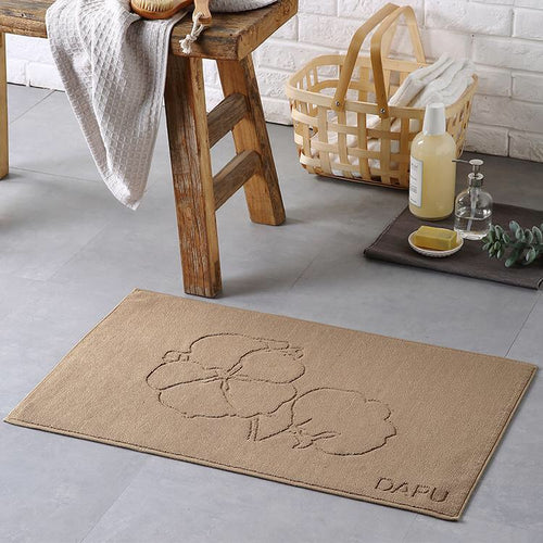 100% Cotton Anti-Slip Flower Decorative Bath Mat - Booth79