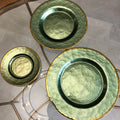Antique Glass Plates Vintage Charger Plates - Booth79
