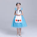Girls Disney Alice in Wonderland Alice Costume Dress - Booth79