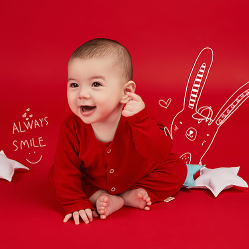 Unisex Newborn Baby Cute Rabbit Jumpsuit – Red - Booth79