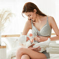 Women Front Button Wireless Cotton Maternity Bra - Booth79