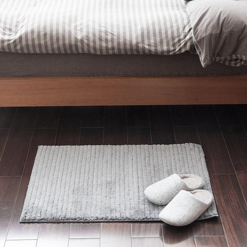 Non-Slip Ribbed Bathroom Mat Cozy Bath Rug - Booth79
