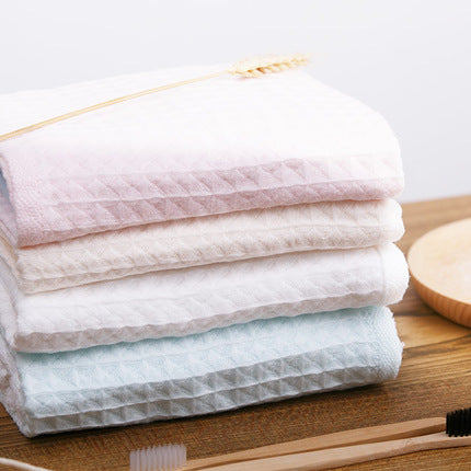 100% Cotton Lightweight Waffle Wave Hand Towel 4-Pack - Booth79