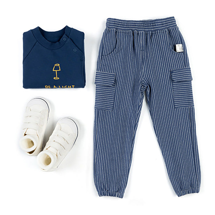 Kids Striped Knit Pants - Booth79