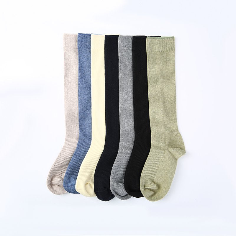 10-12Y Girls Winter Warm Over Knee High Boot Socks 3 Pairs - Booth79