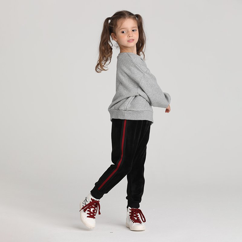 Kids Fine Plush Thick Velvet Silk Trousers - Booth79