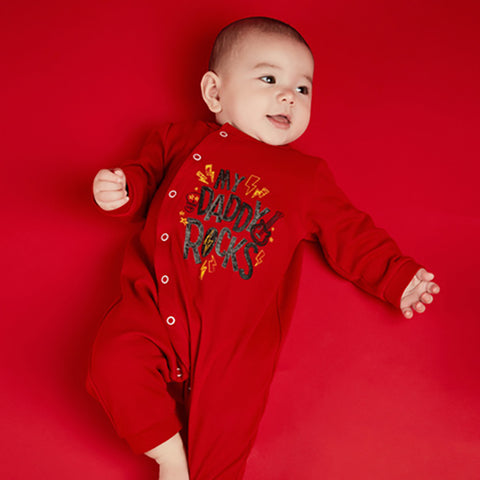 Newborn Letter 100-day Print Jumpsuit Romper - Booth79