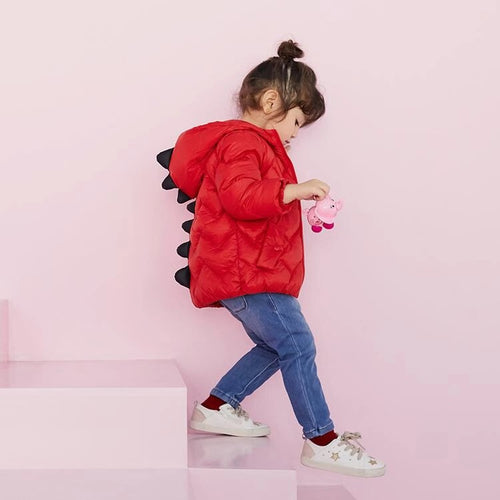 Unisex Kids Little Dinosaur Hooded Down Jacket - Booth79
