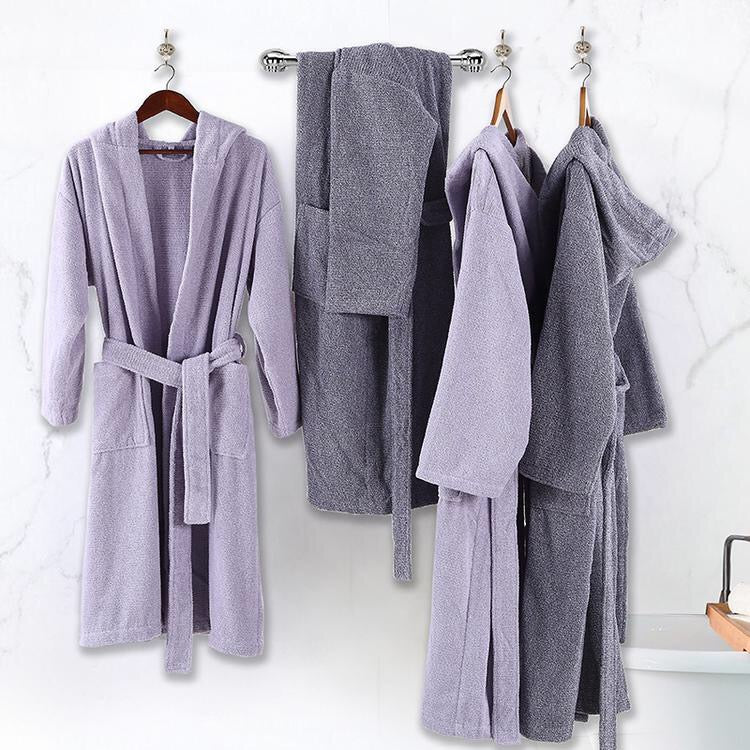 Unisex Turkey Imported 100% Cotton Extra Soft Bathrobe - Booth79