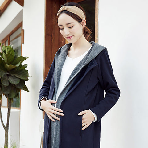 Pregnant Women Fever Velvet Fake Two Cardigan - Booth79