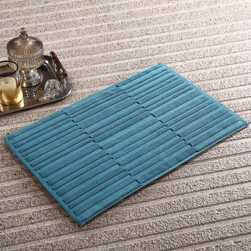 100% Cotton Extra Soft Solid Stripes Bath Mat - Booth79