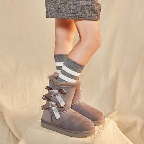 Girls Leather Snow Boots - Booth79