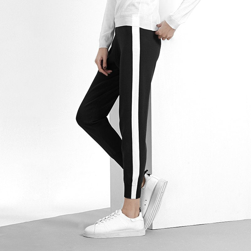 Autumn Casual Rib Weave Pants (Double Designs) - Booth79