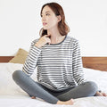 Maternity Striped Breastfeeding Long Sleeve T-shirt - Booth79