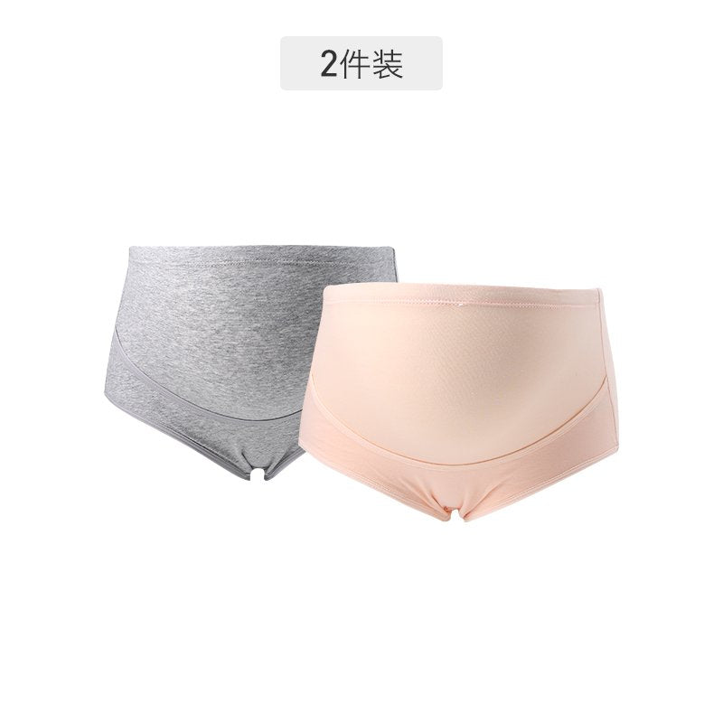 Pregnant Women High Waist Double Layers Belly Care Pants (Two pieces) - Booth79