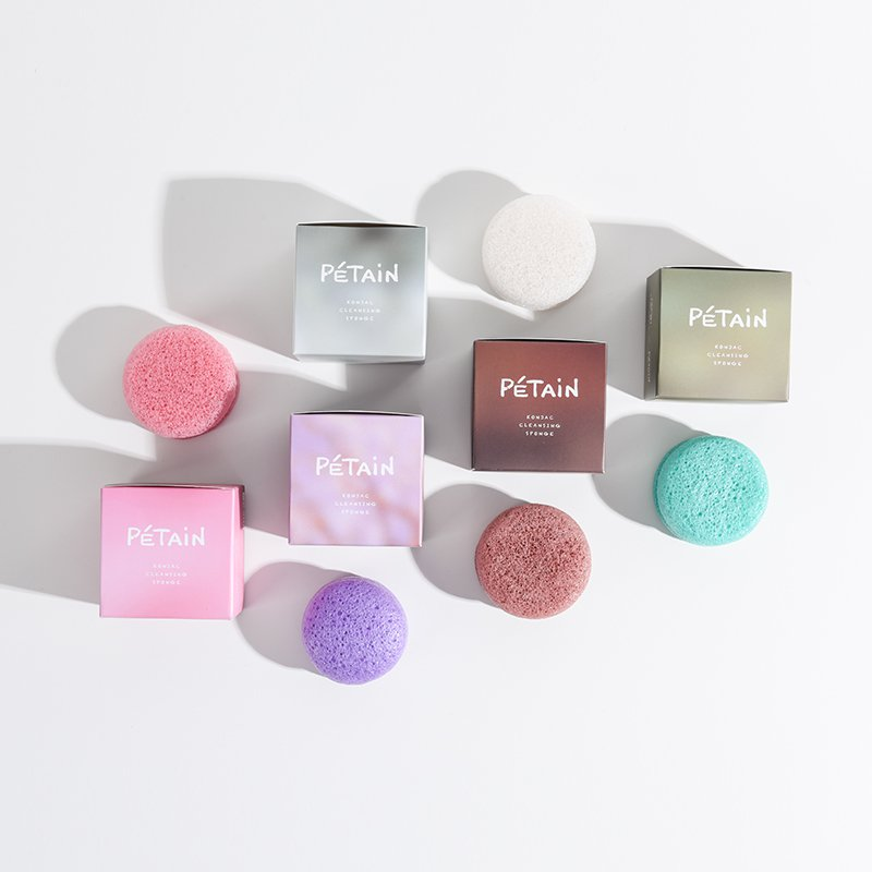 Konjac Facial Sponges for Face Exfoliating and Deep Pore Cleansing - Booth79