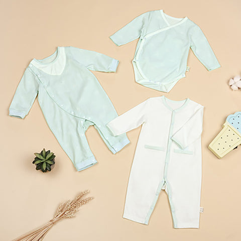 3 Packs Fresh Color Newborn Romper Jumpsuit - Booth79