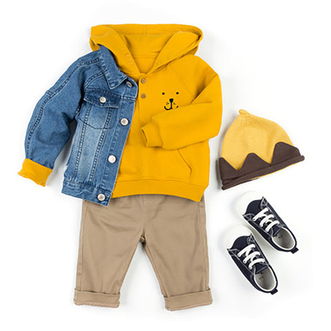 Chest Embroidered Pocket Children's Pullover Hoody - Booth79