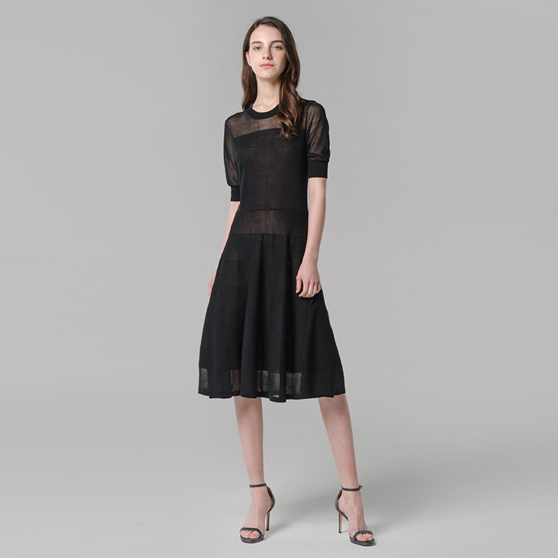 Women's Round Collar Thin Summer Dress