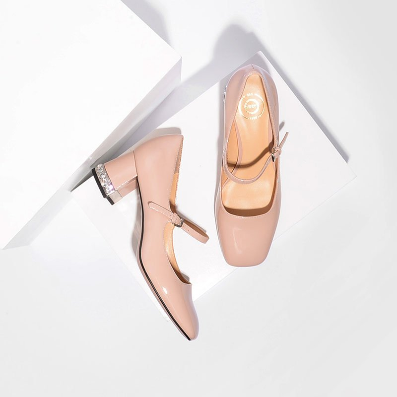 Women's Classical Mary Jane Chunky Heels Thin Shoes