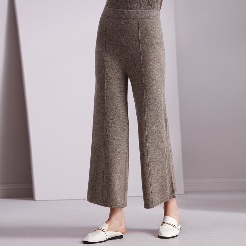 Women's Ninth Cashmere Weave Wide-Leg Pants