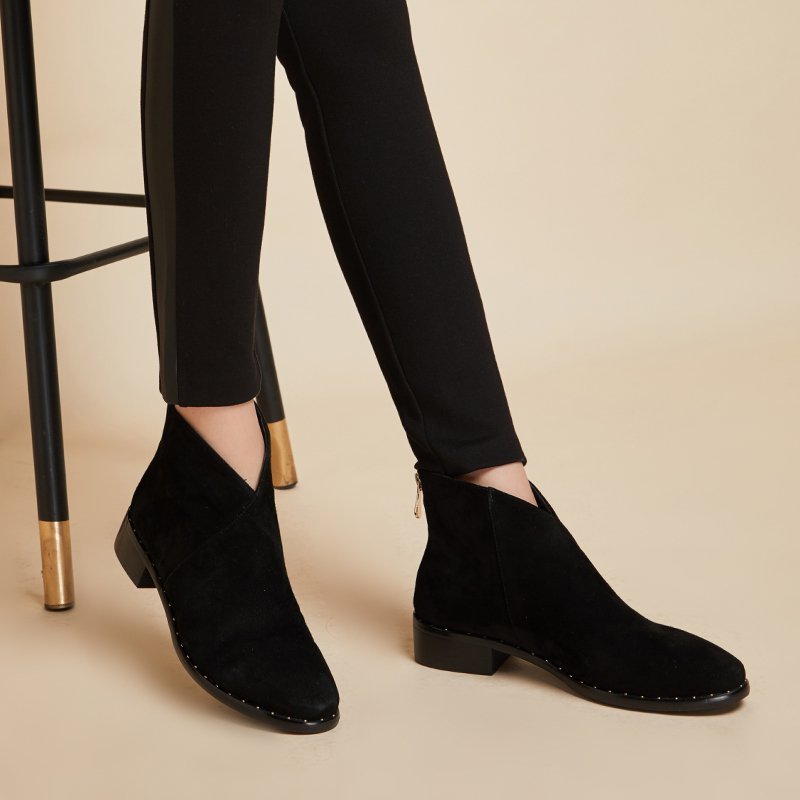 Women's Bevel Mouths Ankle Boots