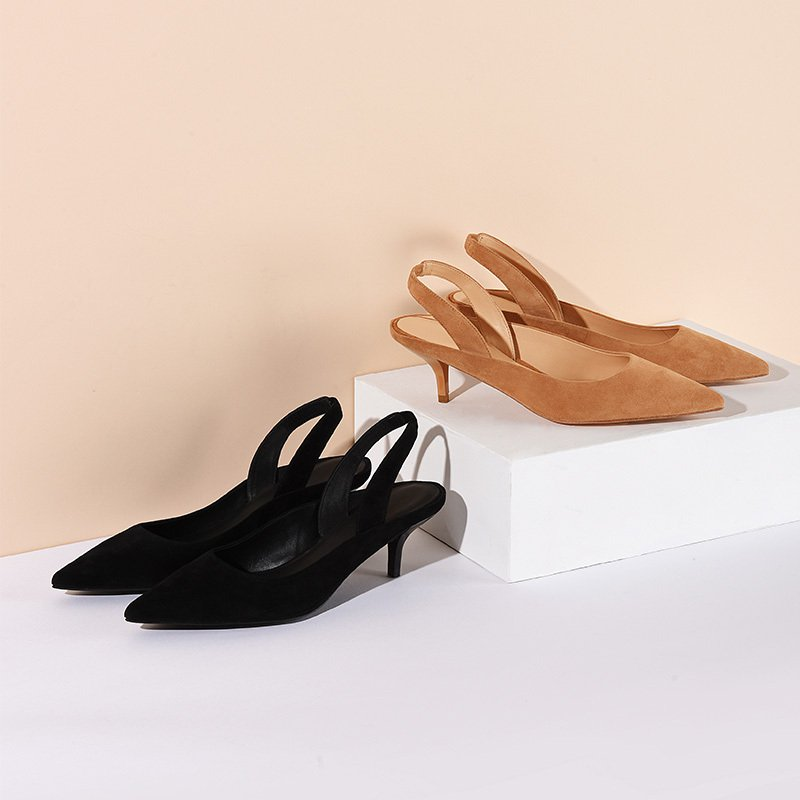 Women's Pointed Heads Back Strappy High Heels Shoes